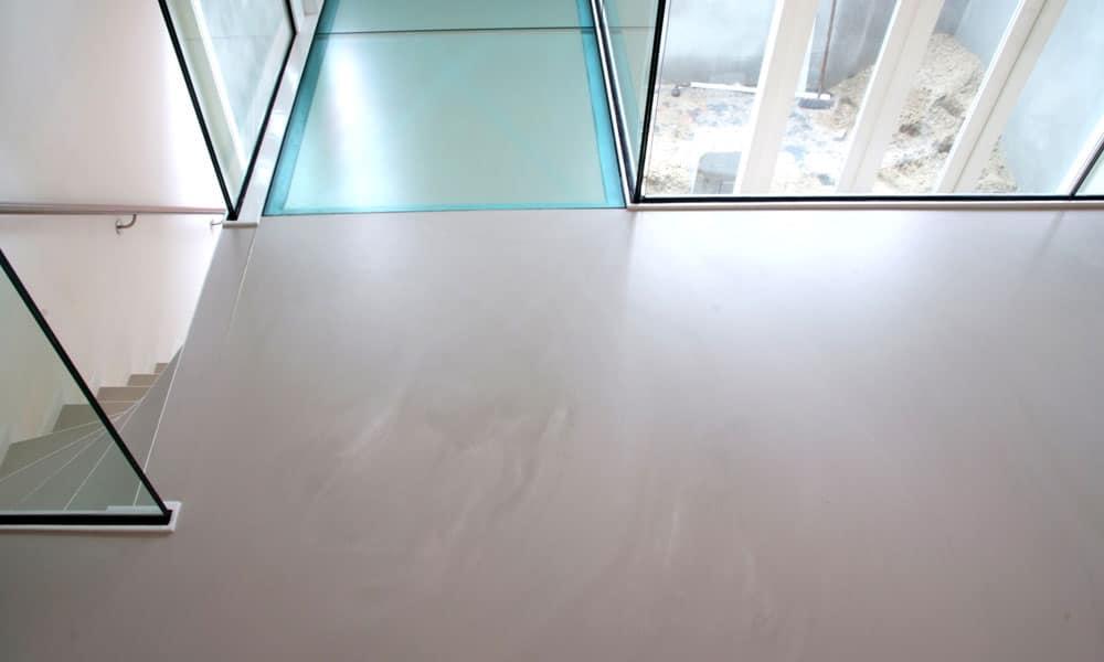 betonlook gietvloer overloop